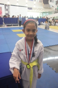 Danielle after the Poomsae competition